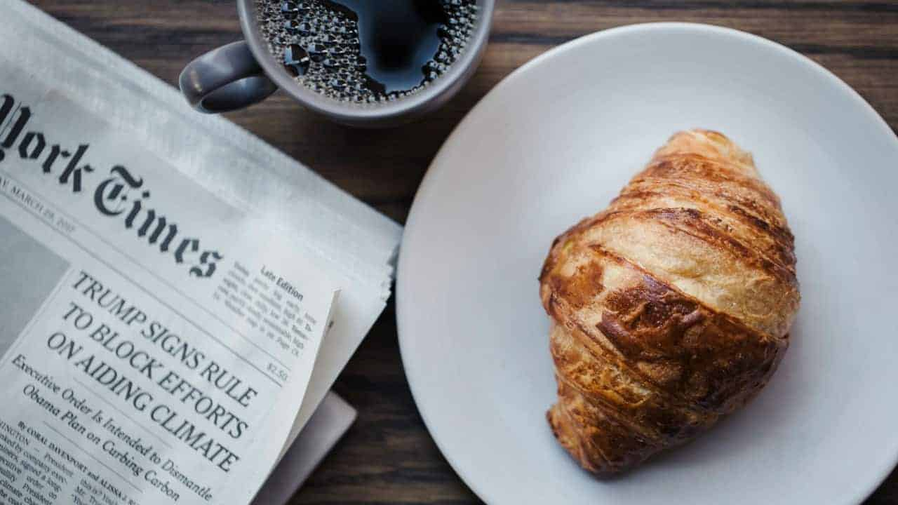 High Street Croissant and coffee
